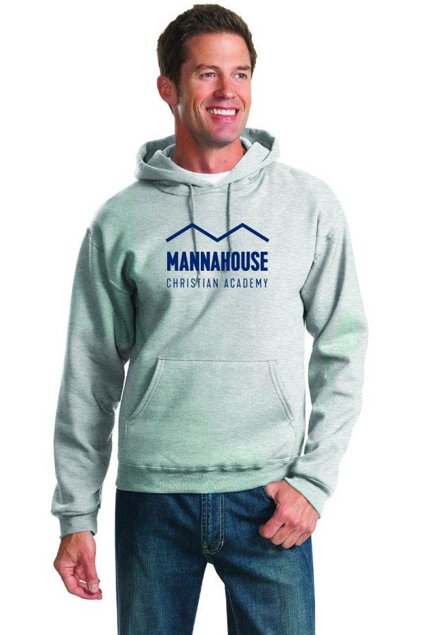 gray hoodie MCA logo