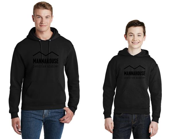 mca black hoodie black logo