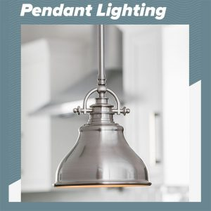 Two Pewter Pendant Lights