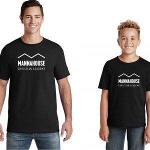 mca black tshirt with logo