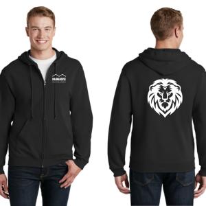mca black zipper hoodie