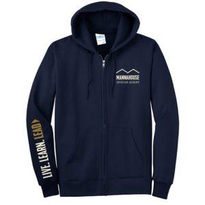 navy MCA zip hoodie